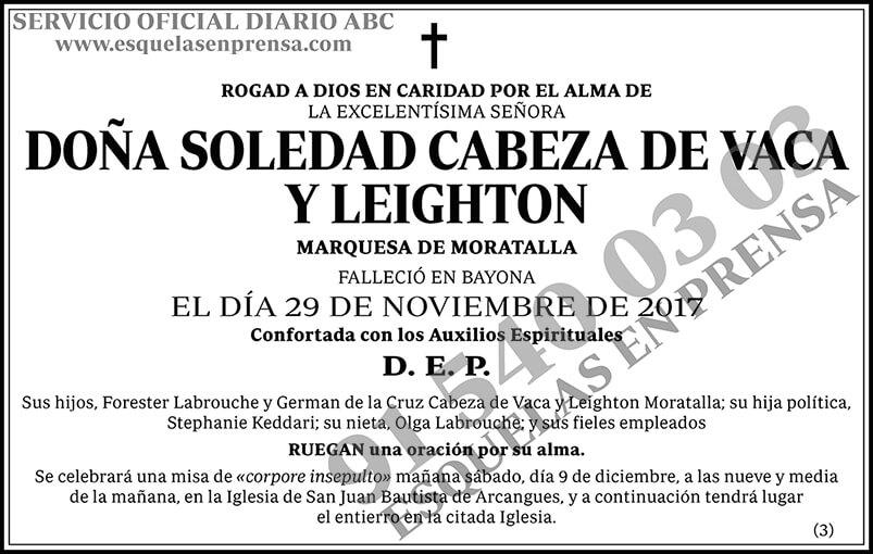Soledad Cabeza de Vaca y Leighton